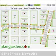 plangardens garden design and planning software offers interactive version of obama family vegetable garden